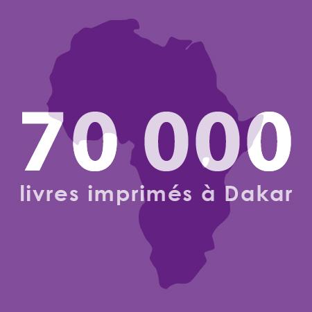70 000 livres imprimés à Dakar